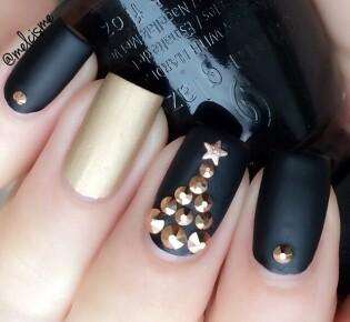 50 вдохновляющих новогодних дизайна ногтей