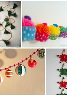 Новогодние гирлянды своими руками: 60+ идей как сделать гирлянду