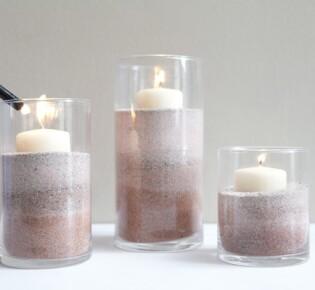 Новогодние свечи с песком: пошаговая инструкция с фото