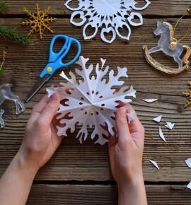 Снежинки из бумаги своими руками – схемы, шаблоны и мастер классы