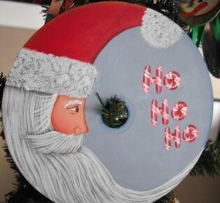 Поделки из дисков на Новый год: делаем украшения из старых CD