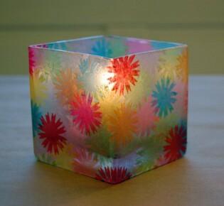 Цветочный подсвечник для новогодней свечи