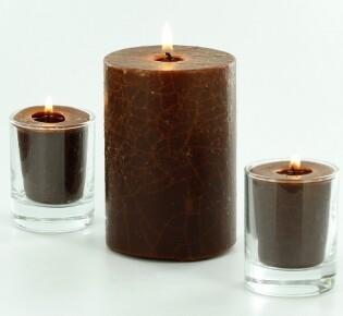 Новогодняя свеча с эффектом кракле