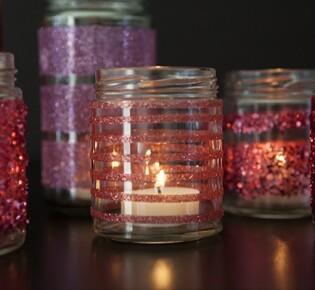 Блестящий подсвечник для новогодней свечи: фото инструкция