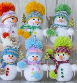 Снеговик из ниток своими руками – 10 пошаговых мастер классов