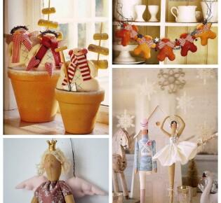 Новогодние куклы Тильда: делаем поделки Новый год из ткани своими руками