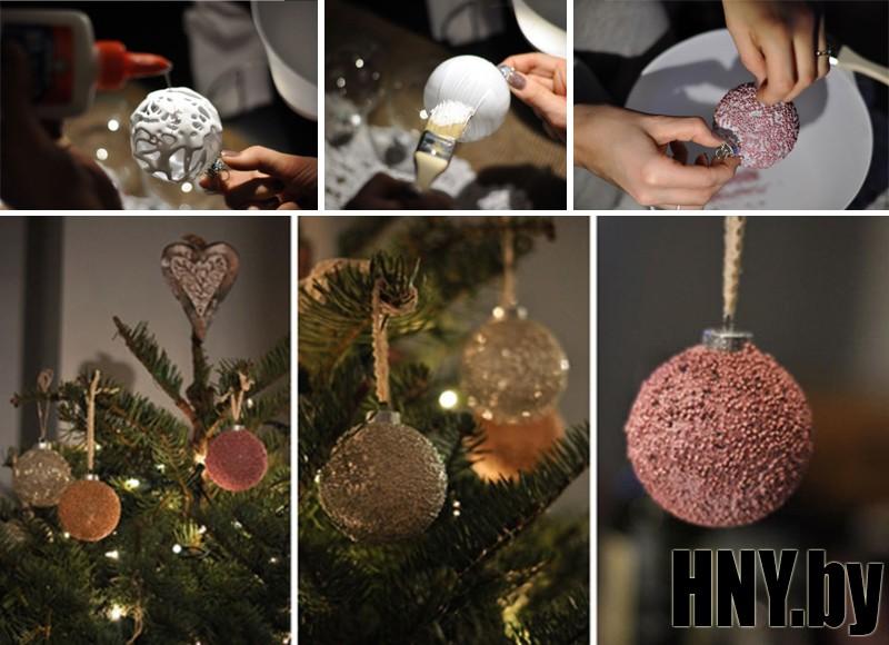 Новогодний шарик с бисером своими руками