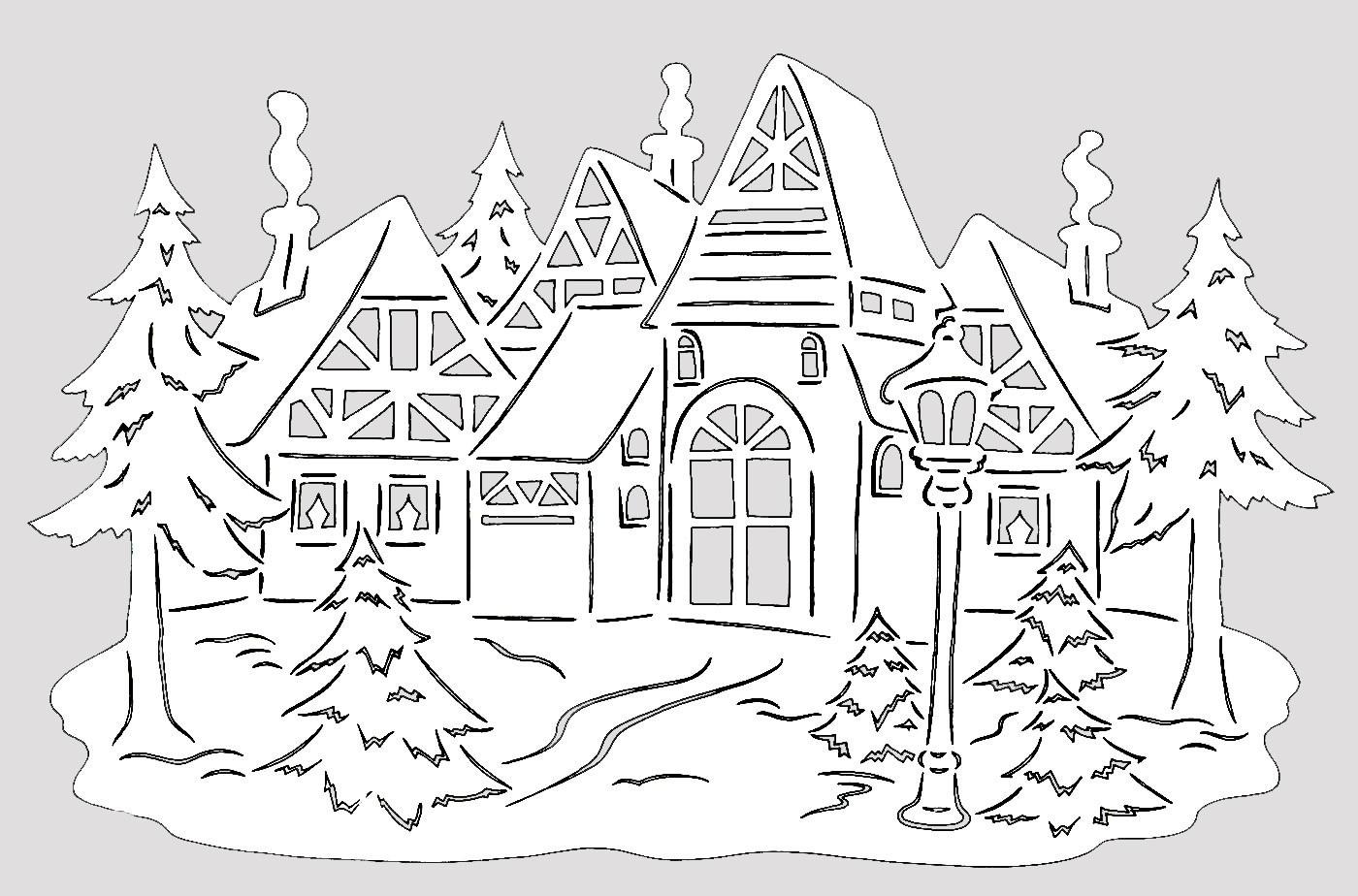 Вытынанки на окна новый год 2017
