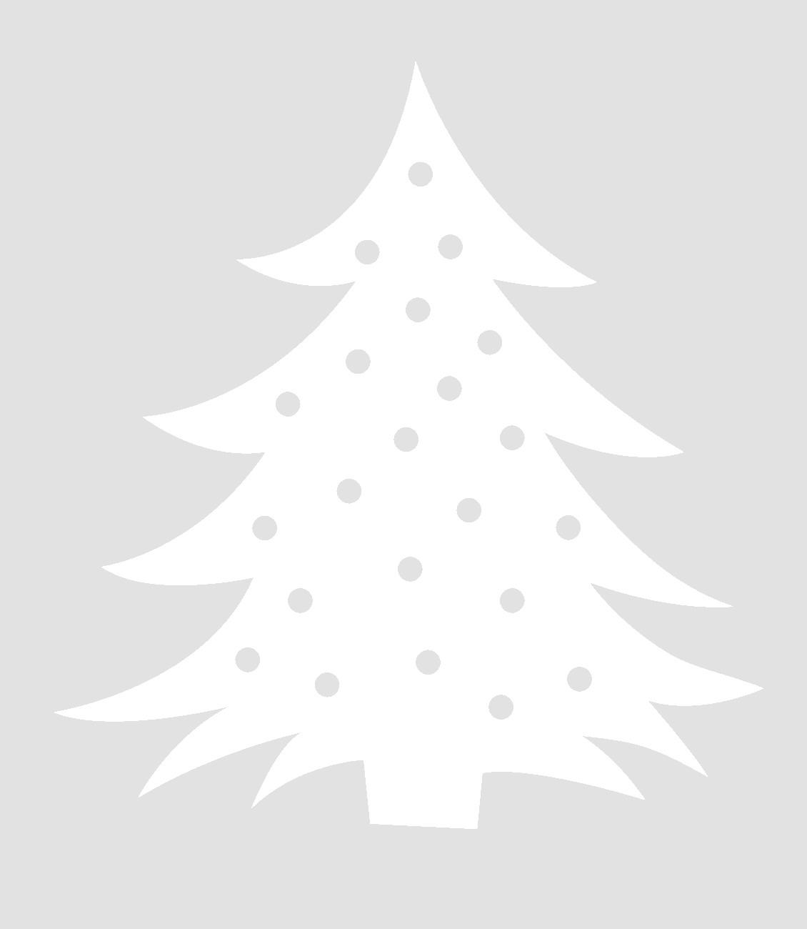 елка шаблоны на окна