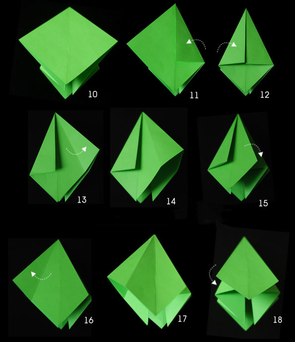 Объёмная ёлка из бумаги своими руками оригами