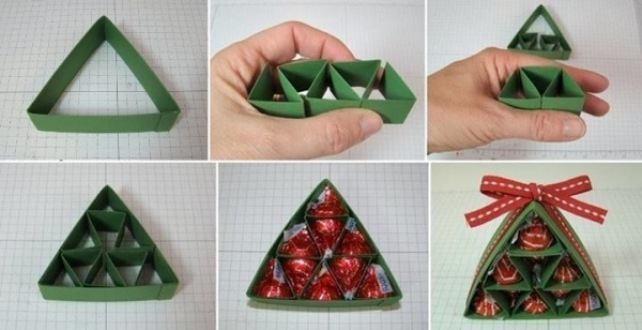 Мастер класс: новогодняя елка из конфет своими руками