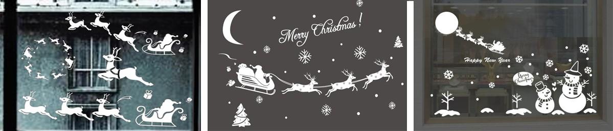Идеи новогодних вытынанок упряжка Деда Мороза