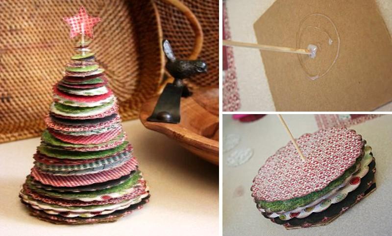 Новогодняя елка из круглых бумажек своими руками