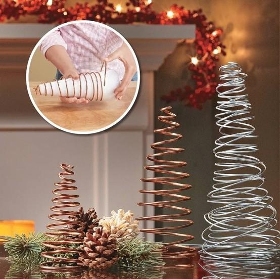 Новогодняя елка из проволоки: делаем елку из подручных материалов