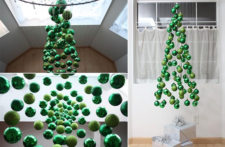 Новогодняя елка из шаров: украшаем дом своими руками