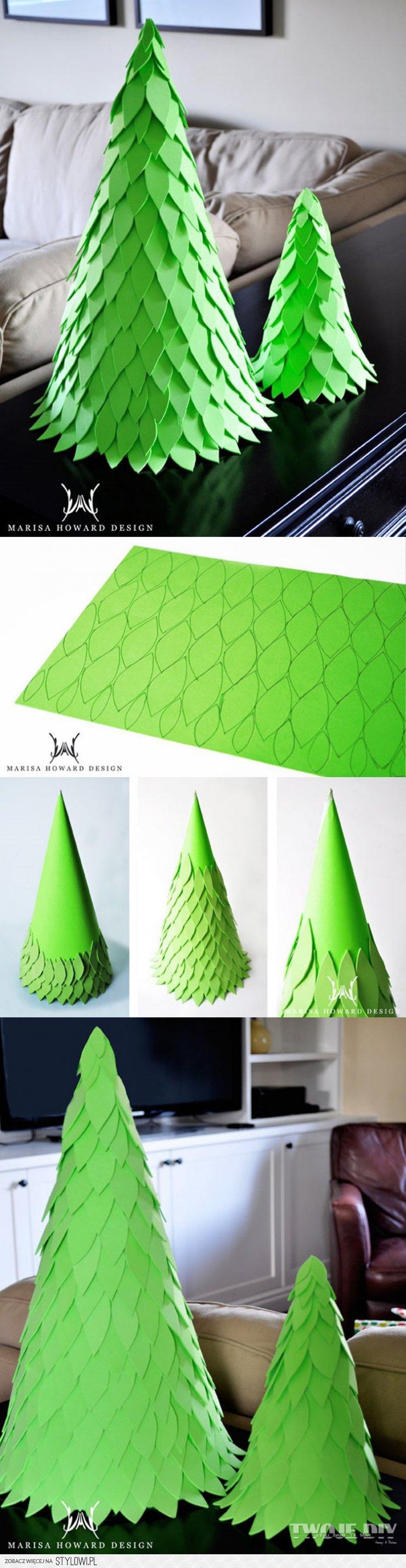 Новогодняя елка из бумаги для терпеливых рукодельниц: мастер класс