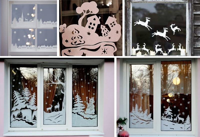 Вытынанки новогодней тематики: как украсить окна к Новому году
