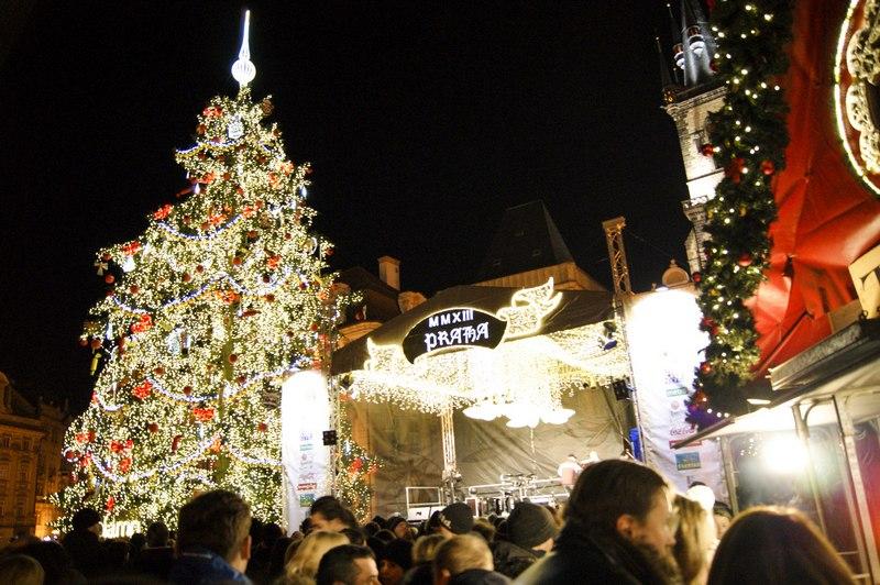 Староместская площадь - встречаем Новый год в Чехии