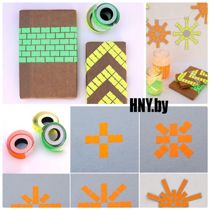 Декорируем новогоднюю упаковку стикерами для цены