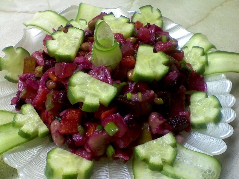 Винегрет с огурцами: рецепт винегрета с огурцами солеными