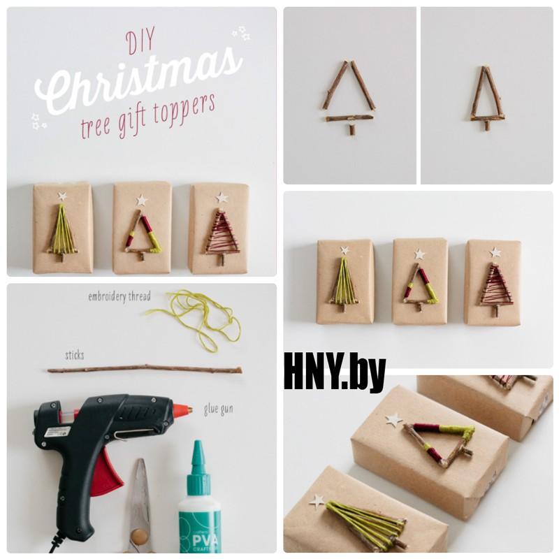 Декорируем новогоднюю упаковку подручными материалами