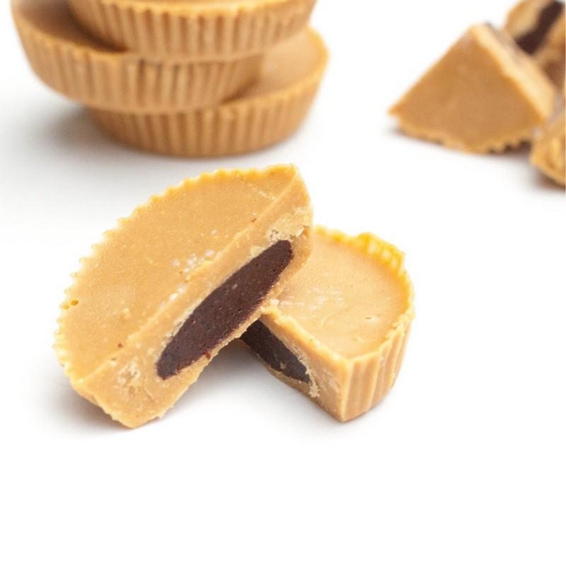 Новогодняя выпечка: Кексы - перевертыши с арахисовым маслом наизнанку