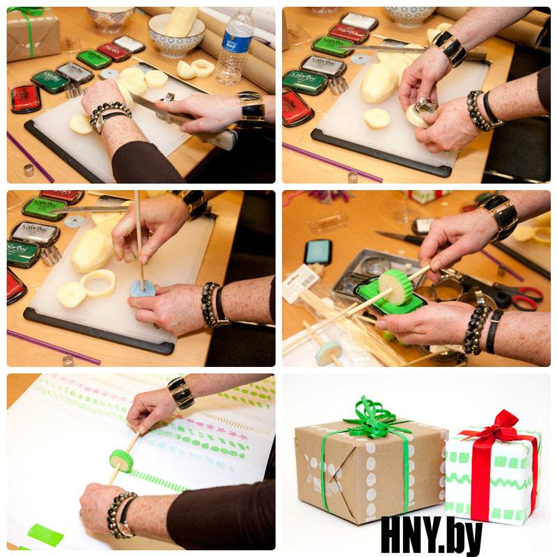 Декорируем новогоднюю упаковку причудливыми узорами: пошаговый мастер класс