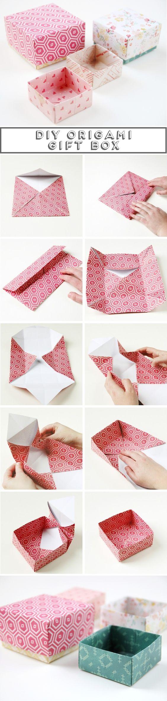 Как сделать коробочку с подарком с бумаги
