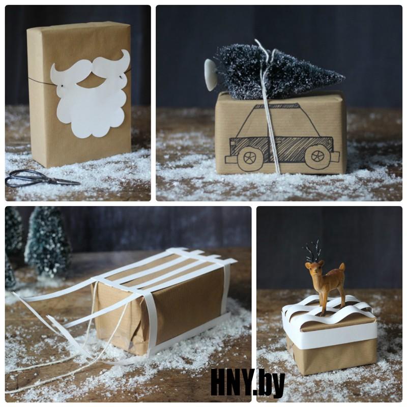 Декорируем новогоднюю упаковку в новогодней тематике