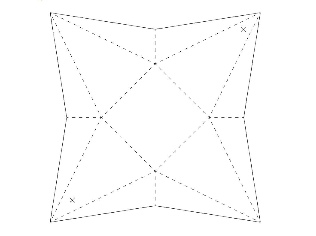 схема коробочки домика из бумаги