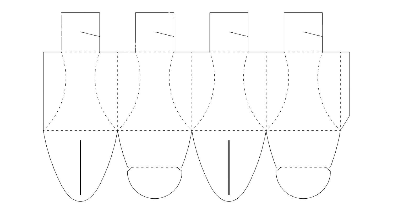 оригами коробка с крышкой схема