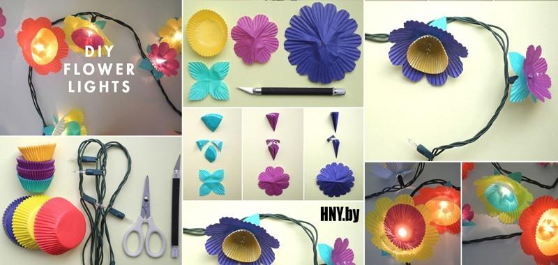 Гирлянда из бумаги для елки: декорируем светодиодные фонарики