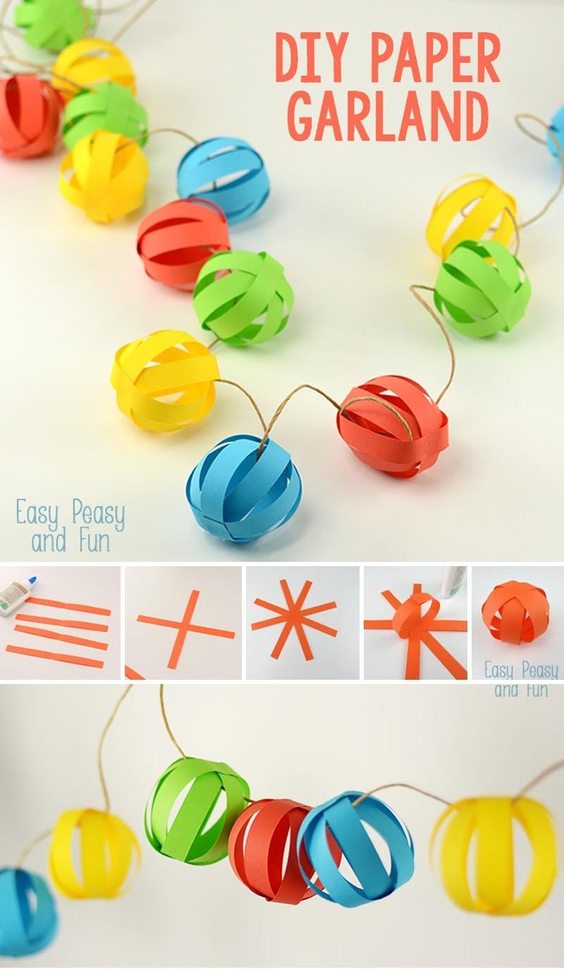 Новогодняя гирлянда в форме объемных шаров: мастер класс