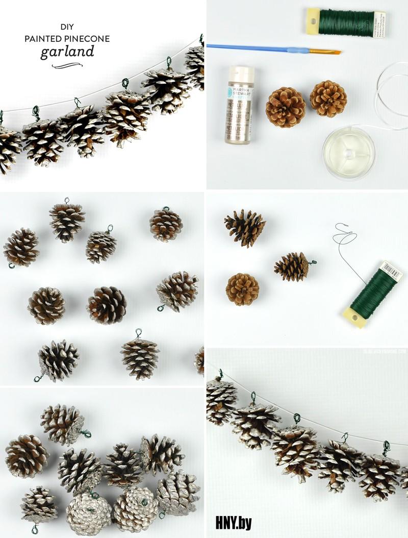 Гирлянда на новый год из шишек: добавим зимней сказки в новогодний праздник