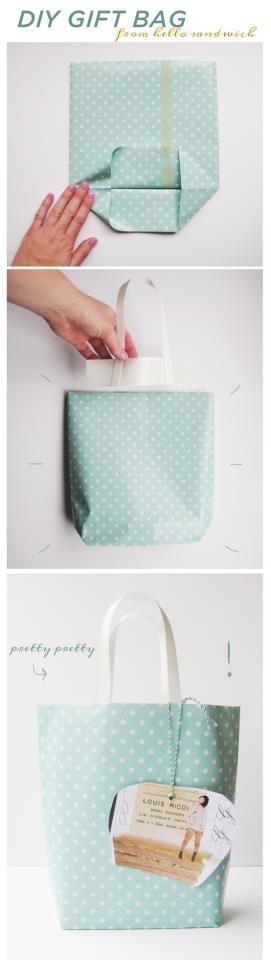 Подарочный пакет своими руками: пошаговая инструкция с фото