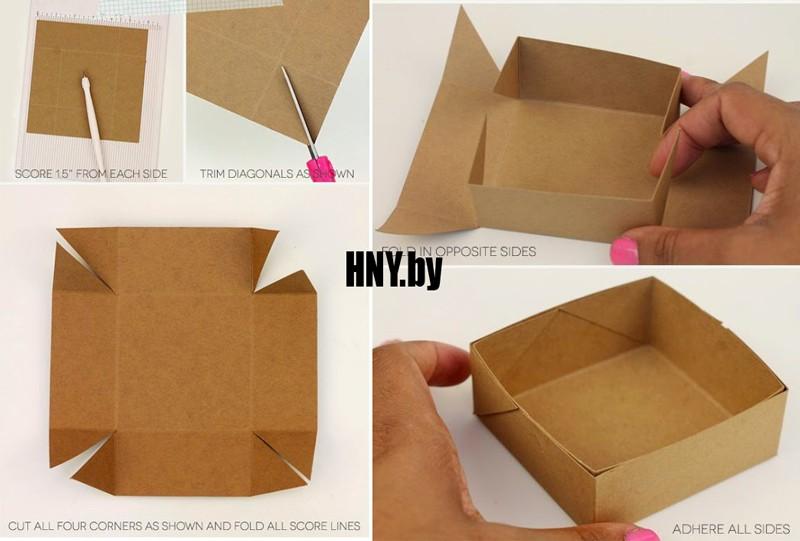 Коробочка для подарков: делаем новогоднюю упаковку своими руками