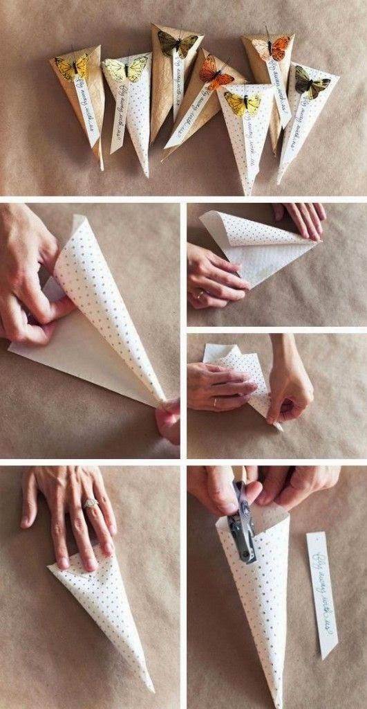 Новогодняя упаковка-кулем: пакуем подарки своими руками