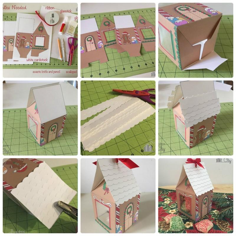 """Схема подарочной коробочки """"Пряничный домик"""" своими руками: пакуем подарки сами"""