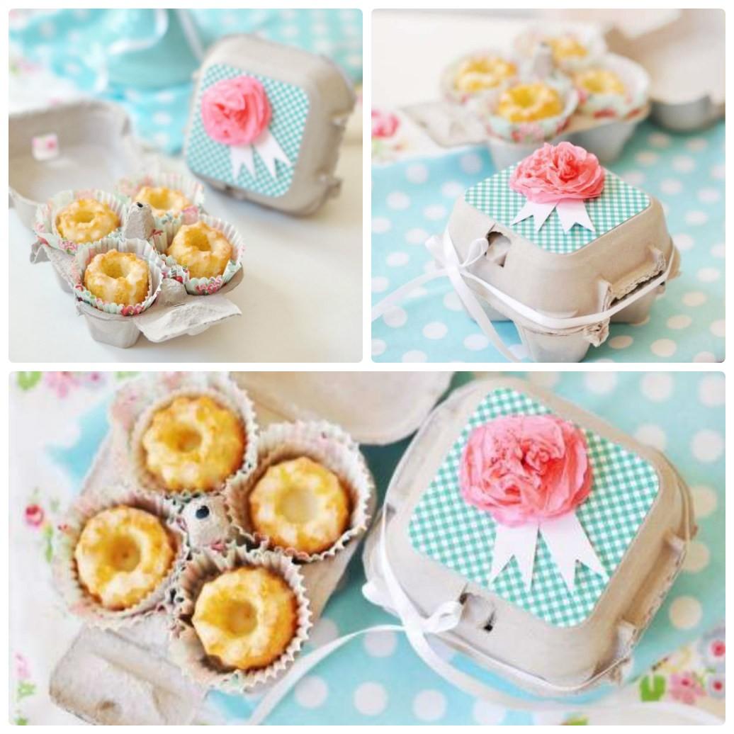 Подарочная упаковка для кексов из бумажного лотка для яиц