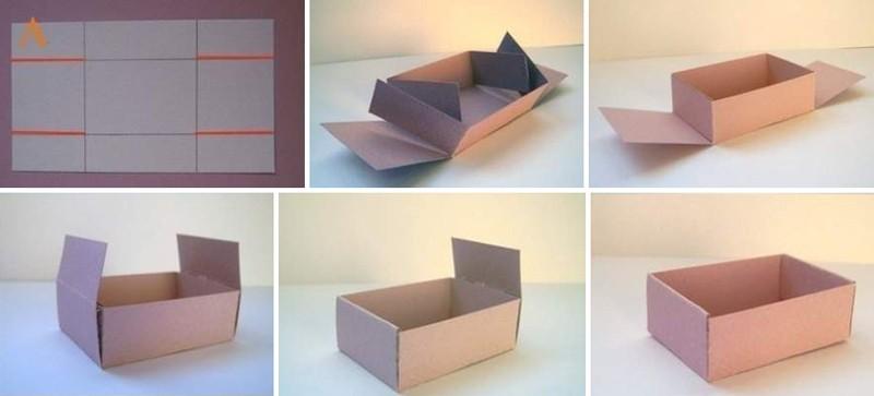 Схема подарочной коробочки из картона своими руками: пошаговый мастер класс