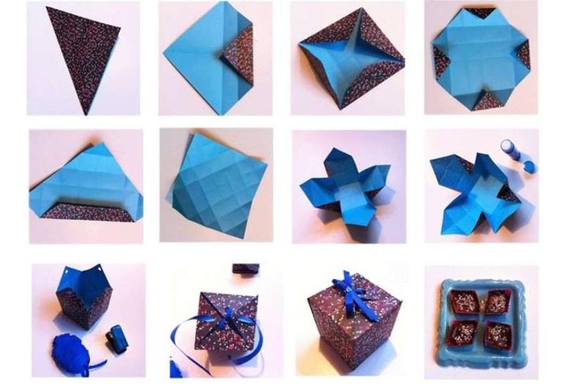 Мастер класс: Коробочка из бумаги своими руками с застежкой-бантиком