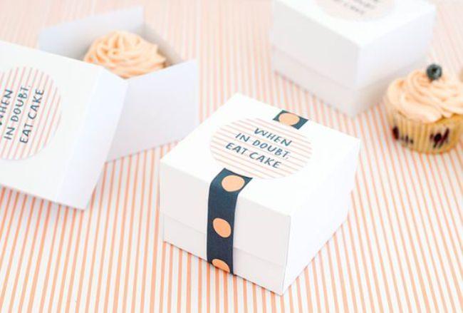 Подарочная коробочка с крышкой для маффинов и других мелочей своими руками. Схема