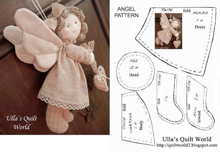 Выкройка ангел своими руками