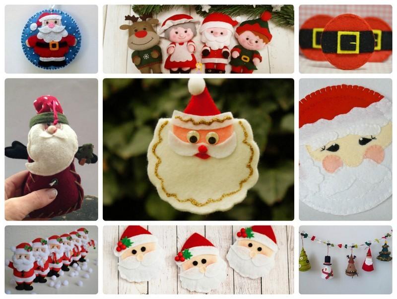 Новогодние игрушки из фетра Дед мороз своими руками: схемы, выкройки, шаблоны, мастер классы