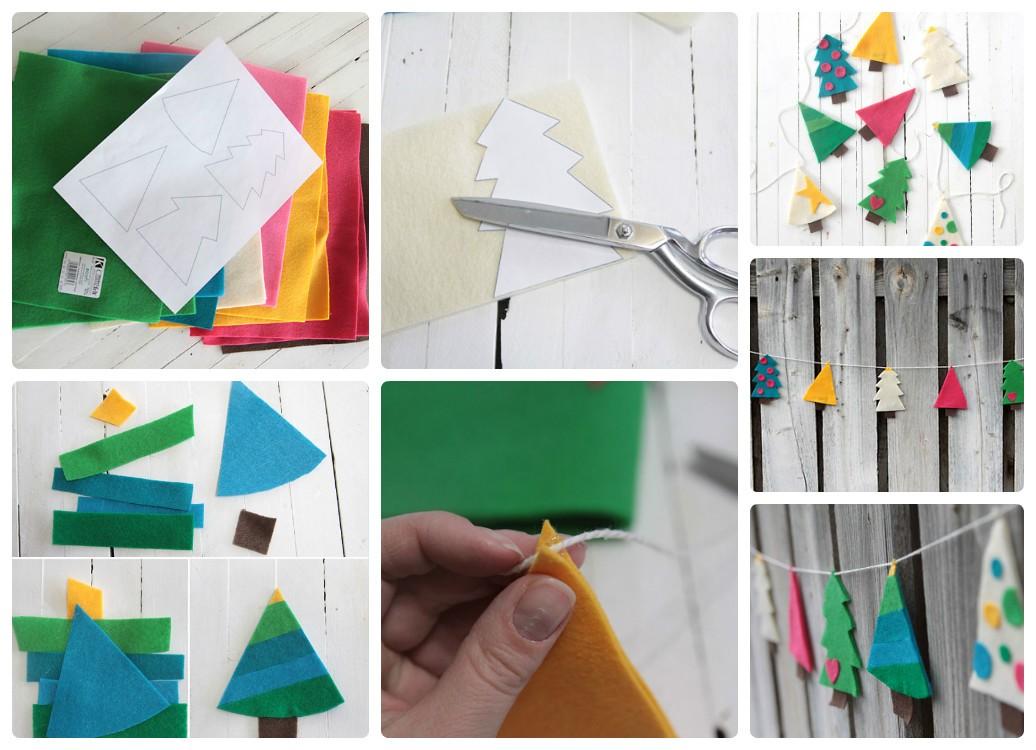 Игрушки из фетра Елочки своими руками: выкройки, схемы, шаблоны, мастер классы
