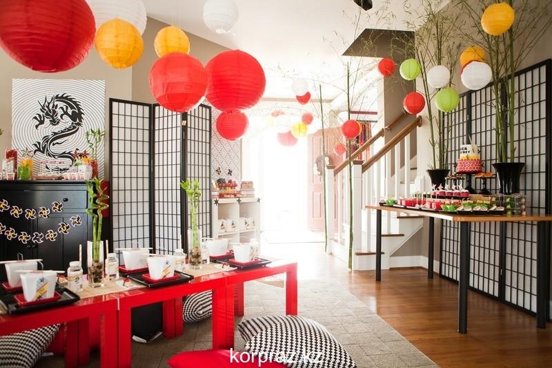 Идеи декора для детской новогодней вечеринки в стиле ниндзя