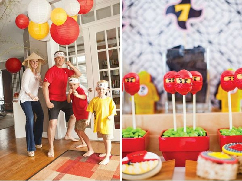Новогодняя ниндзя вечеринка для детей