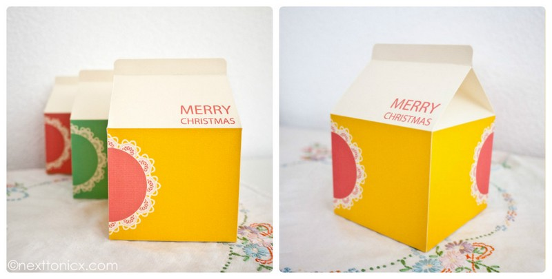 """Оригинальная коробочка из бумаги своими руками """"Коробка молока"""". Схема"""