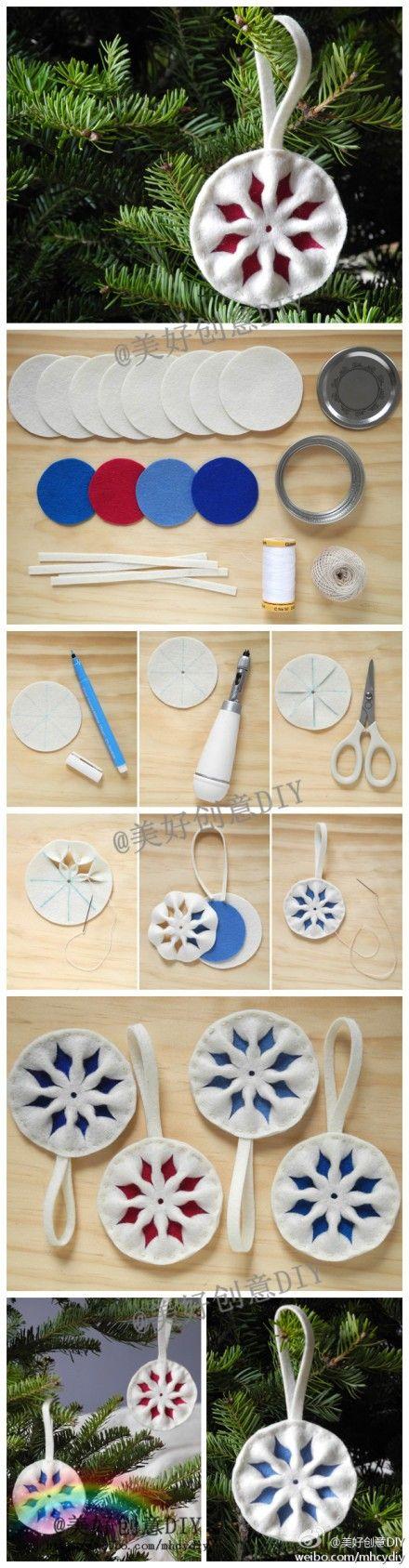 Фетровые игрушки на елку - как сделать своими руками