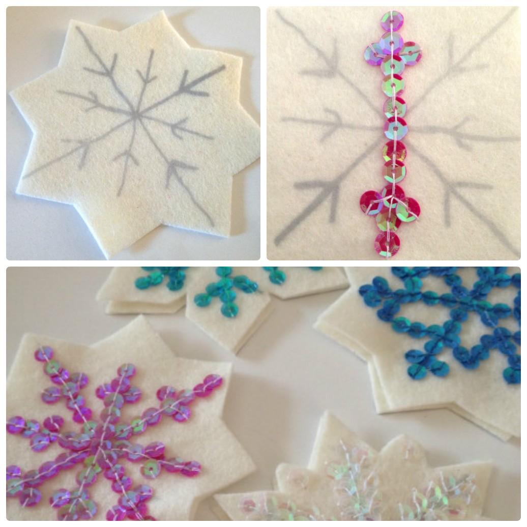 Игрушки из фетра Снежинки своими руками: выкройки, схемы, шаблоны, мастер классы